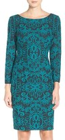 Eliza J Jacquard Knit Sheath Dress