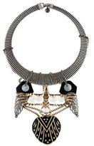 Lulu Frost Crystal & Mother Of Pearl Collar Necklace