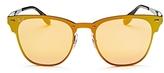 Ray-Ban Blaze Mirrored Rimless Square Sunglasses, 47mm