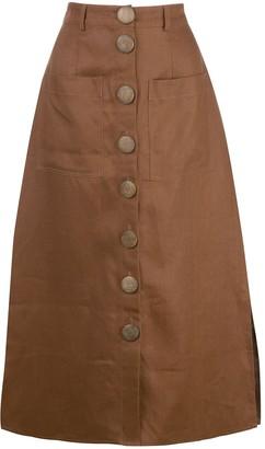 Nicholas Stitched Panel Skirt