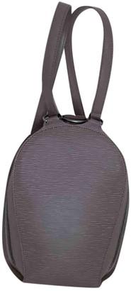 Louis Vuitton Mabillon Purple Leather Backpacks
