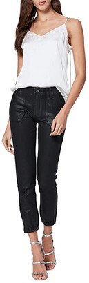 Paige Mayslie Joggers (Black Fog Luxe Coated) Women's Casual Pants