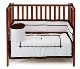 Baby Doll Bedding Baby Doll Unique Hotel Style Port-a-Crib Bedding Set, Chocolate by BabyDoll Bedding