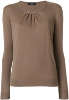 Steffen Schraut pleated detail knitted blouse