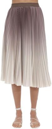 Agnona Pleated Degrade Skirt