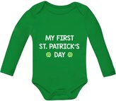 TeeStars My First St. Patrick's Day - Cute Bodysuit Irish Clover Baby Long Sleeve Onesie