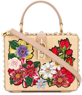 Dolce & Gabbana Floral Embellished Tote Bag