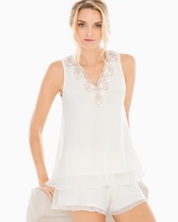Soma Intimates Metallic Embroidered Chiffon Pajama Tank