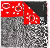Pierre Louis Mascia Pierre-Louis Mascia - fringed spots and stripes scarf - women - Silk - One Size