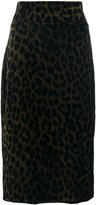 Odeeh leopard pencil skirt