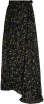 Preen by Thornton Bregazzi Merrick floral-print silk-georgette wrap skirt