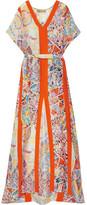 Emilio Pucci Printed Hammered-silk Kaftan - Bright orange