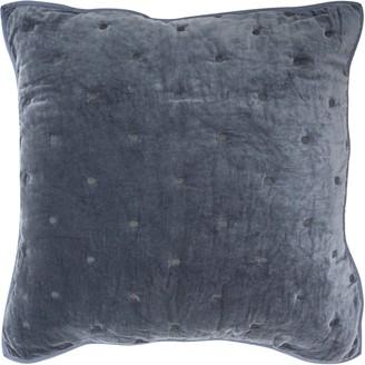 Wallace Cotton Indigo Chalet Large Square Pillowcase