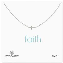Dogeared Sterling Silver Whisper Cross Necklace, 16