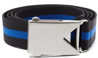 Bottega Veneta Striped Canvas Belt - Black Blue
