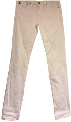 AG Adriano Goldschmied White Cotton Jeans for Women