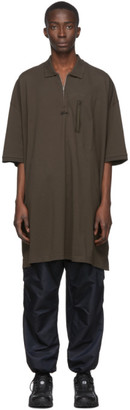 Random Identities Brown Oversized Polo