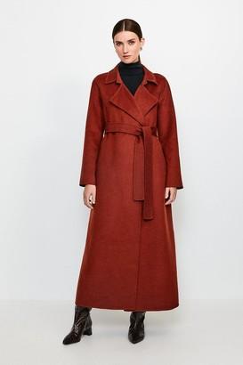 Karen Millen Wool Blend Maxi Hand Finished Coat