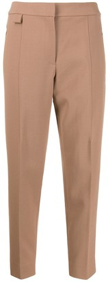Theory high-rise cropped tapered trousers