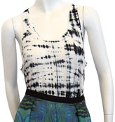 Tie-dye Racerback Tank In Black & White