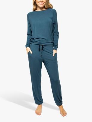 Cyberjammies Elna Slouch Jersey Pyjama Set, Teal
