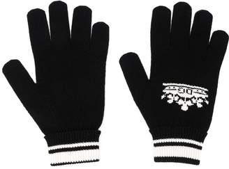 Dolce & Gabbana crown logo intarsia gloves