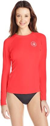 Body Glove Women's Sleek Solid Long Sleeve Rashguard with UPF 50+