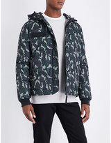 True Religion Mens Camo Contrast Camouflage Shell-Down Jacket