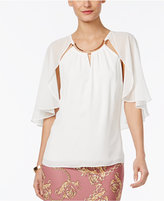 Thalia Sodi Hardware-Trim Cape Top, Only at Macy's