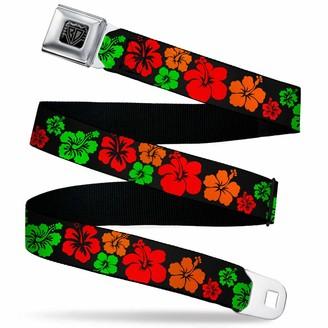 Buckle Down Buckle-Down Men's Seatbelt Belt Hibiscus Kids