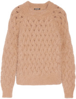 Balmain Cable-knit wool-blend sweater