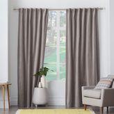 west elm Velvet Pole Pocket Curtain - Dove Gray