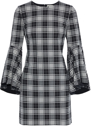 Alice + Olivia Thym Checked Twill Mini Dress