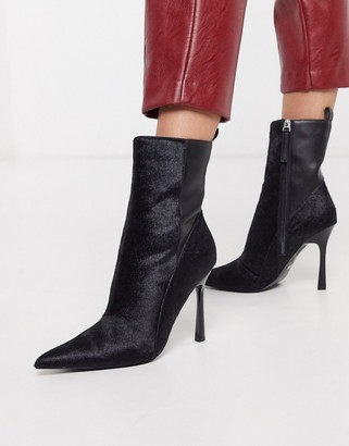 Topshop pointed heel boots in black