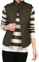 Trends SNJ Women's Lightweight Quilted Padding Zip Up Jacket Vest ( 2XL)