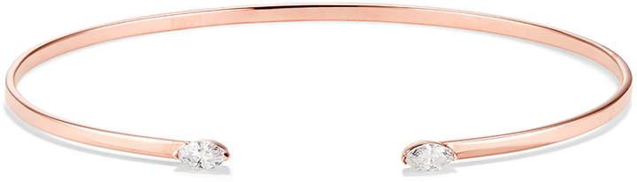 Lana Echo 14k Gold Diamond Marquise Kick Cuff Bracelet