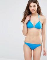 Goddiva Triangle Bikini Set with Hardware Detail