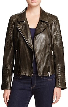 BB Dakota Heely Leather Moto Jacket