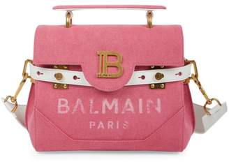 Balmain B-Buzz 23 Canvas Shoulder Bag