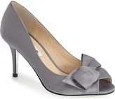 Nina 'Fraser' Satin Peep Toe Pump (Women)