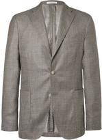 Boglioli - Brown Slim-fit Cashmere And Silk-blend Tweed Blazer