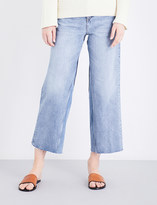 MiH Jeans Caron wide-leg cropped high-rise jeans