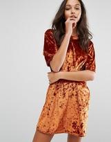 Missguided Velvet T-Shirt Dress