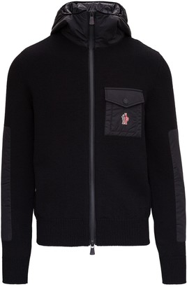 MONCLER GRENOBLE Logo Patch Zipped Jacket