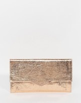 Asos Metallic Slim V Bar Clutch Bag