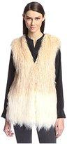Heartloom Women's Faux Fur Ombre Vest
