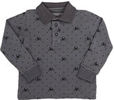 Officina51 Skull-Pattern Piqué Polo Shirt-GREY