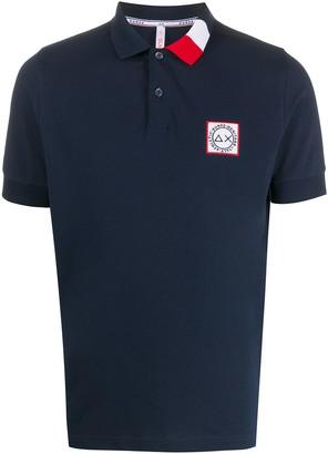 Sun 68 Contrast Collar Polo Shirt