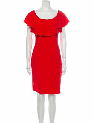 Boutique Moschino Scoop Neck Mini Dress Red
