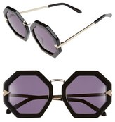 Karen Walker Women's 'Moon Disco' Octagonal 53Mm Sunglasses - Black/ Gold